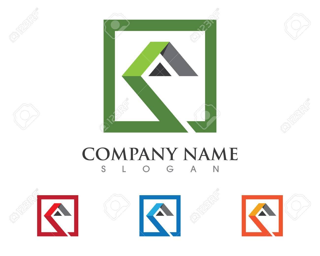 Immobilien Logo Vorlage Immobilien, Immobilien Und Bau Logo Design ...