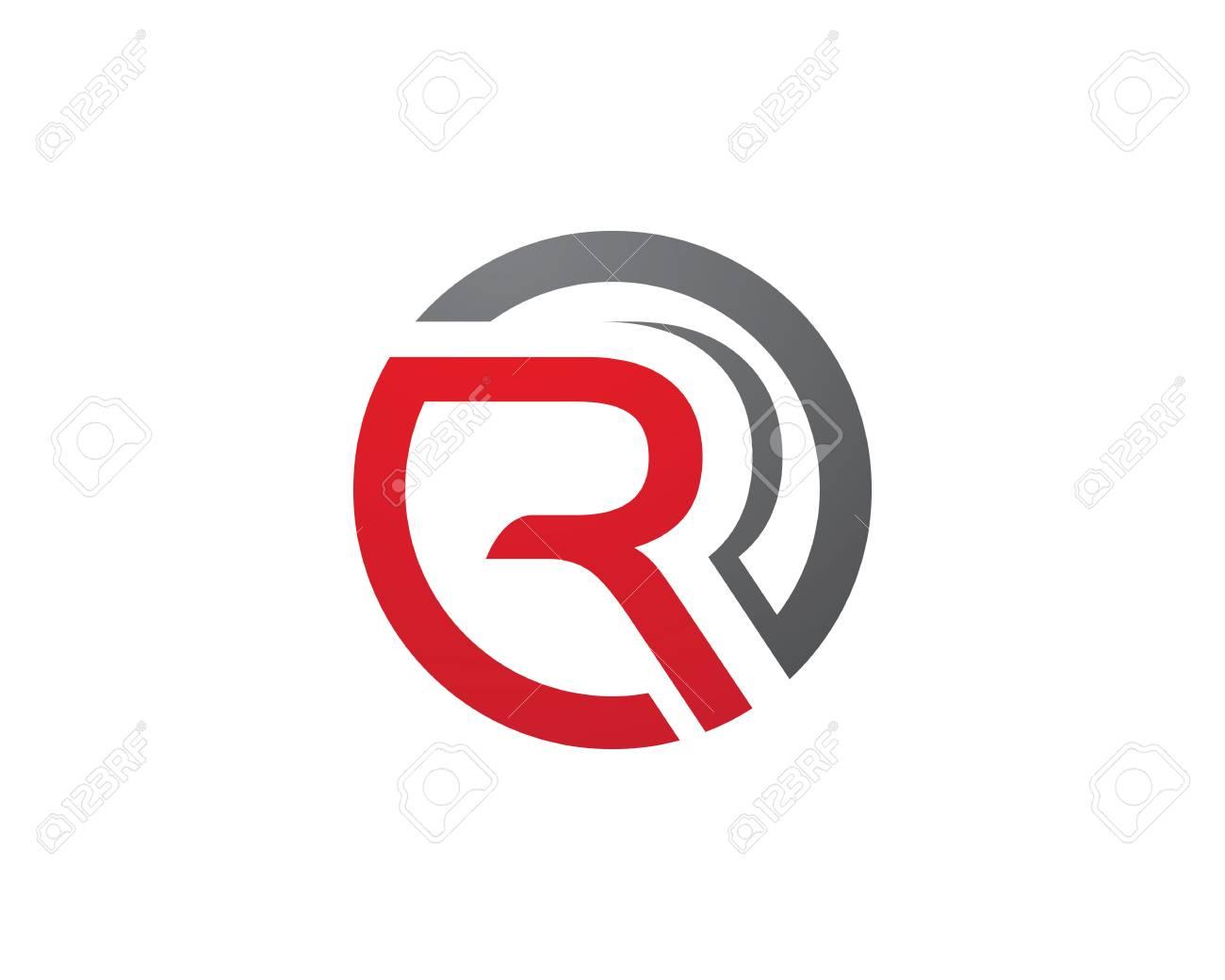 R Brief Logo Geschäft Professionelle Logo Vorlage Lizenzfrei