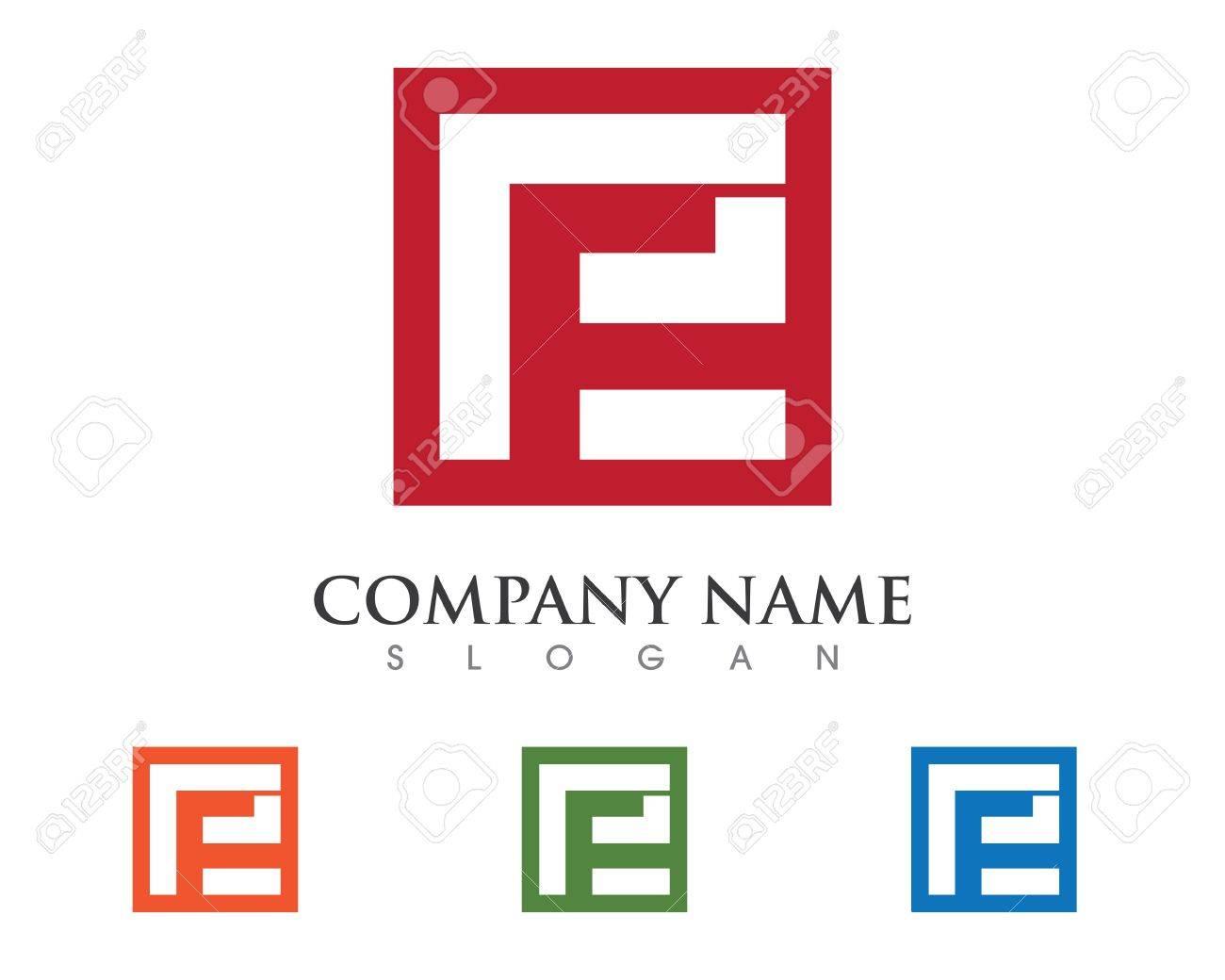 e letter template stock vector 68901532