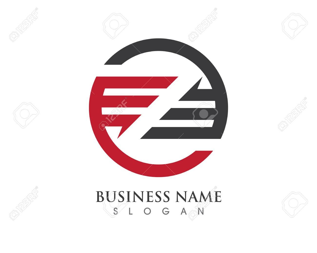 Z Brief Logo Geschäft Professionelle Logo Vorlage Lizenzfrei
