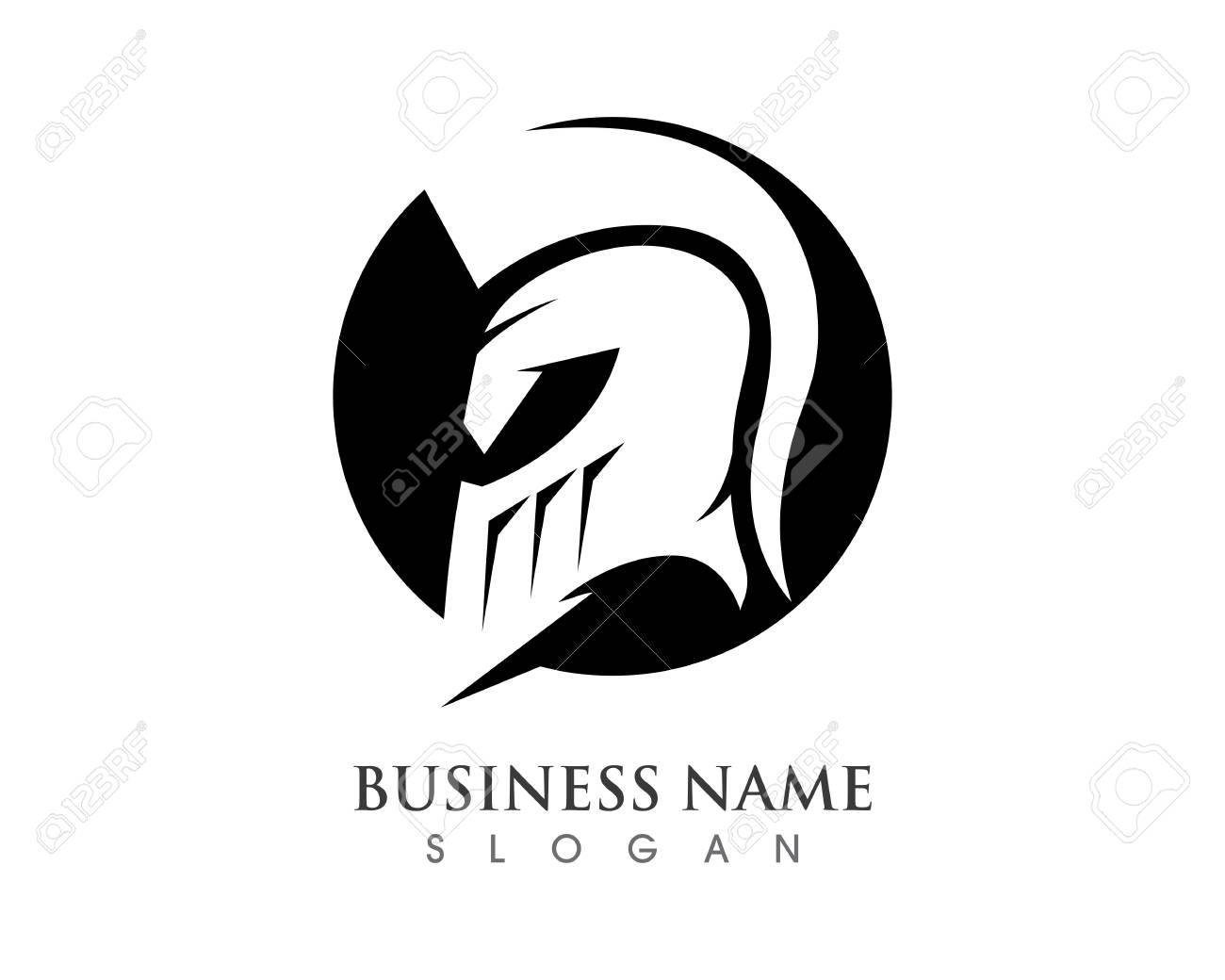 598751e06b6ee Vector sign. Spartan helmet logo template vector icon Stock Vector -  72935462