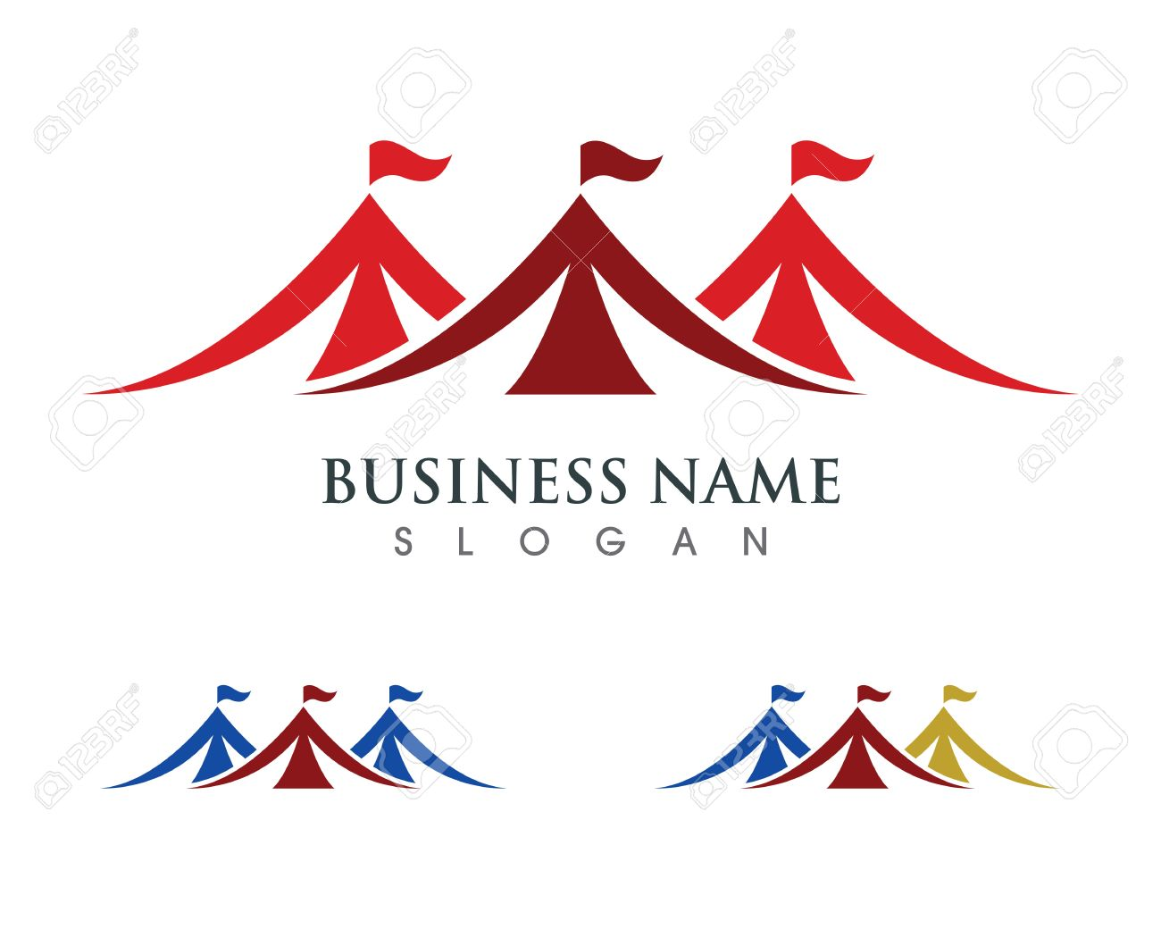 Circus tent logo template. Vector illustration.v - 72755698