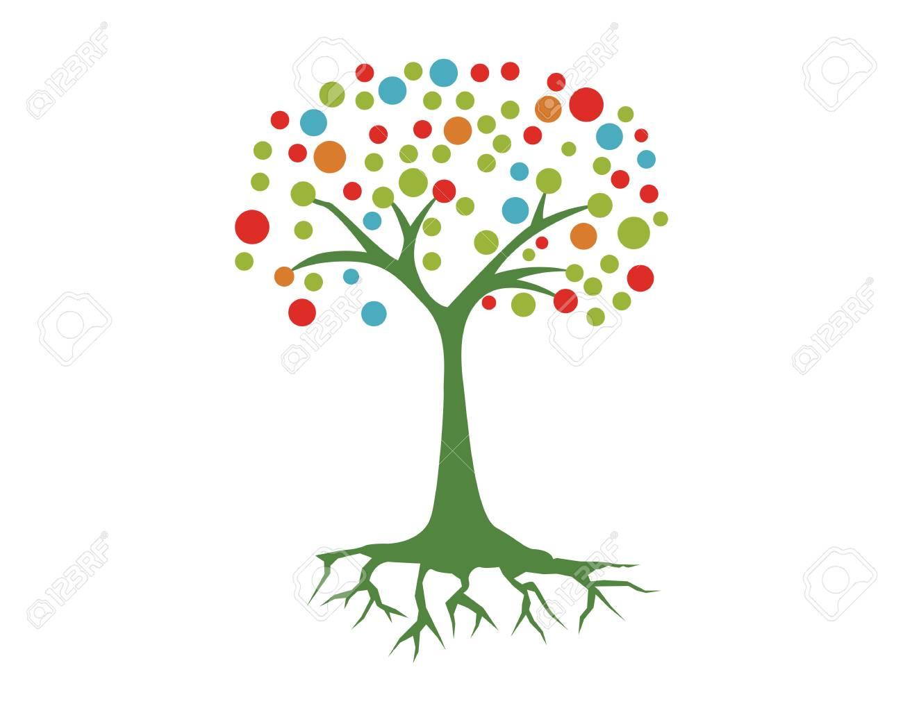Plantilla De Logotipo De Hoja De árbol Ecológico Ilustraciones