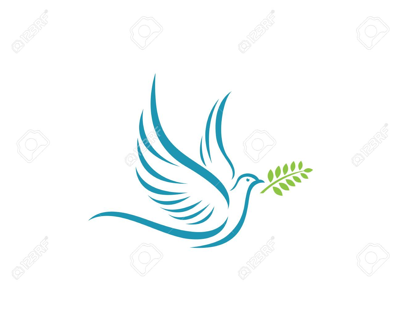 fancy dove logo template royalty free cliparts vectors and stock