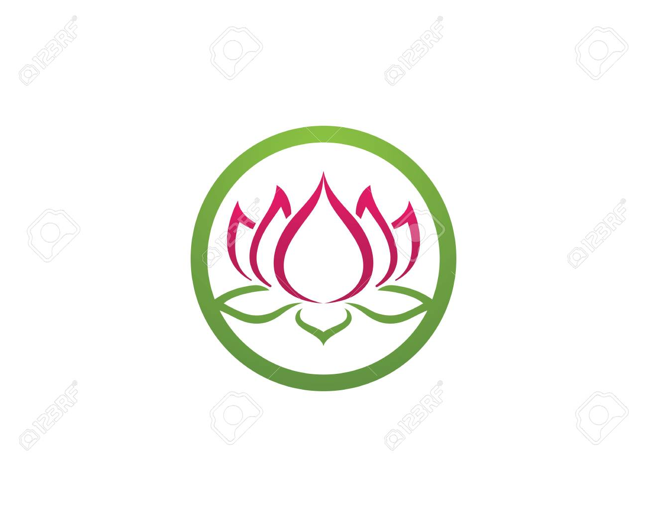 beauty lotus template royalty free cliparts vectors and stock