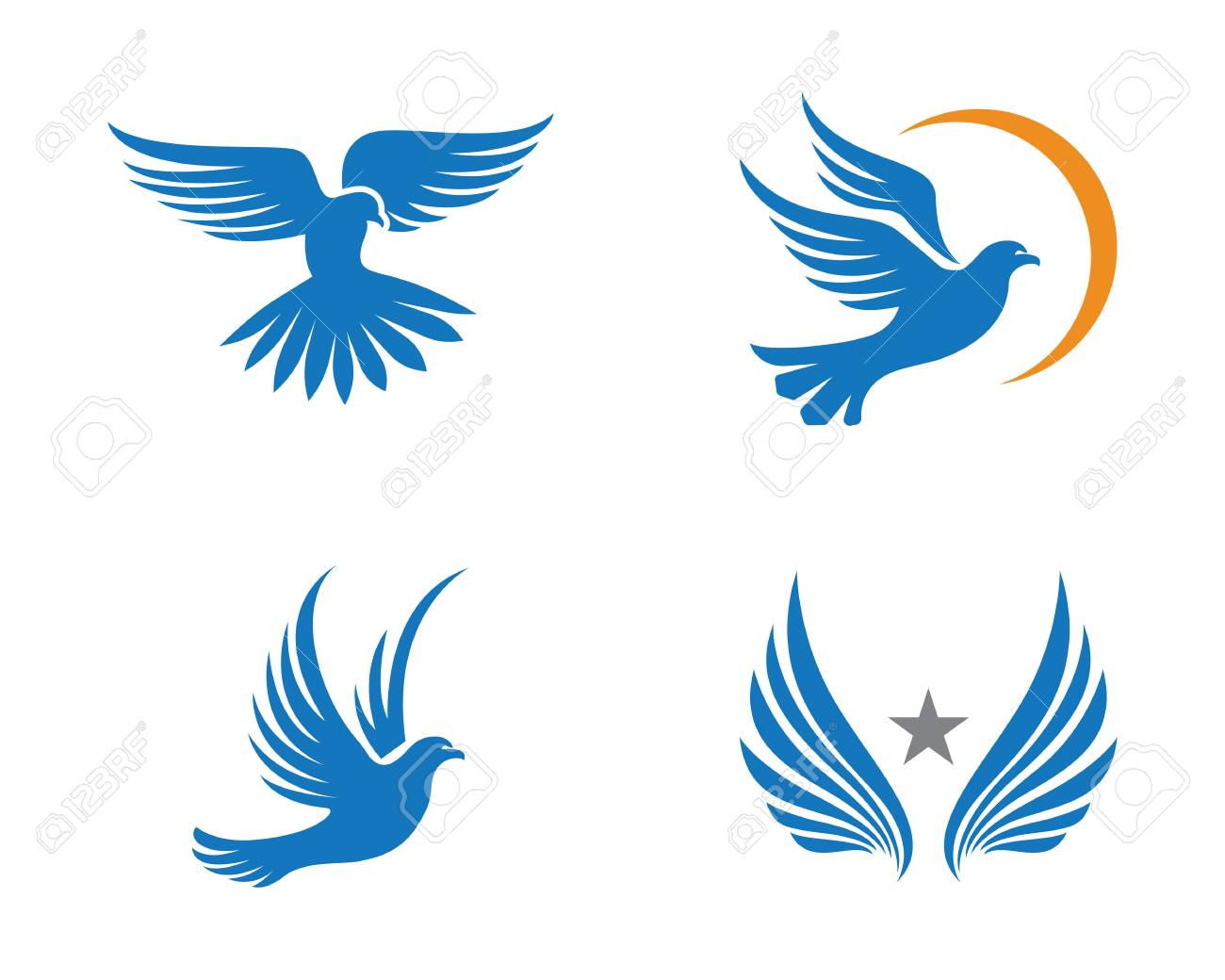 bird dove logo template royalty free cliparts vectors and stock