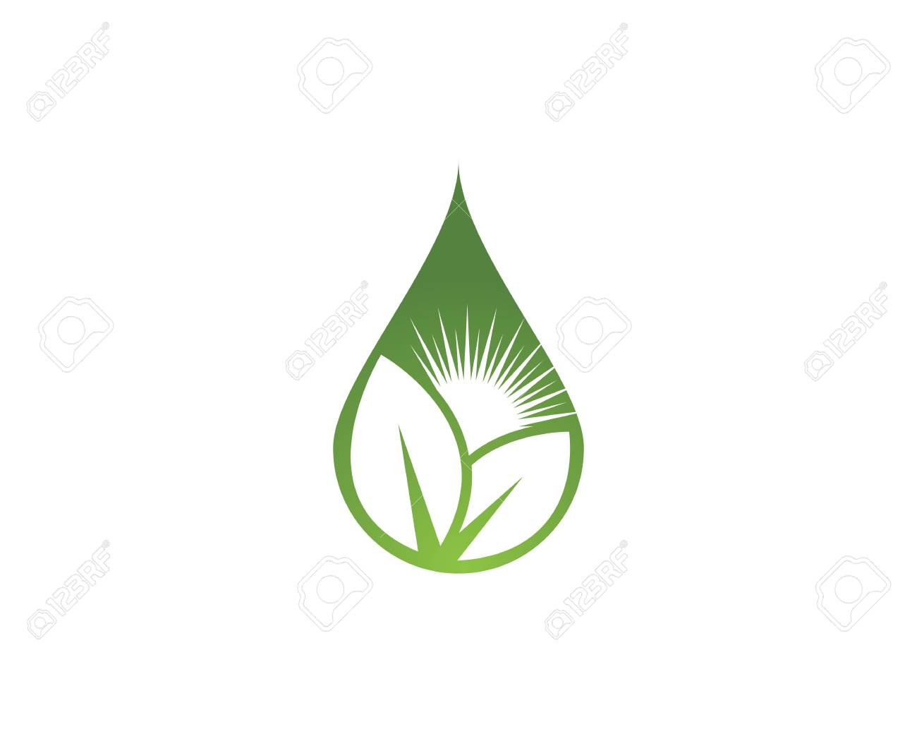 water drop template vector illustration design royalty free cliparts