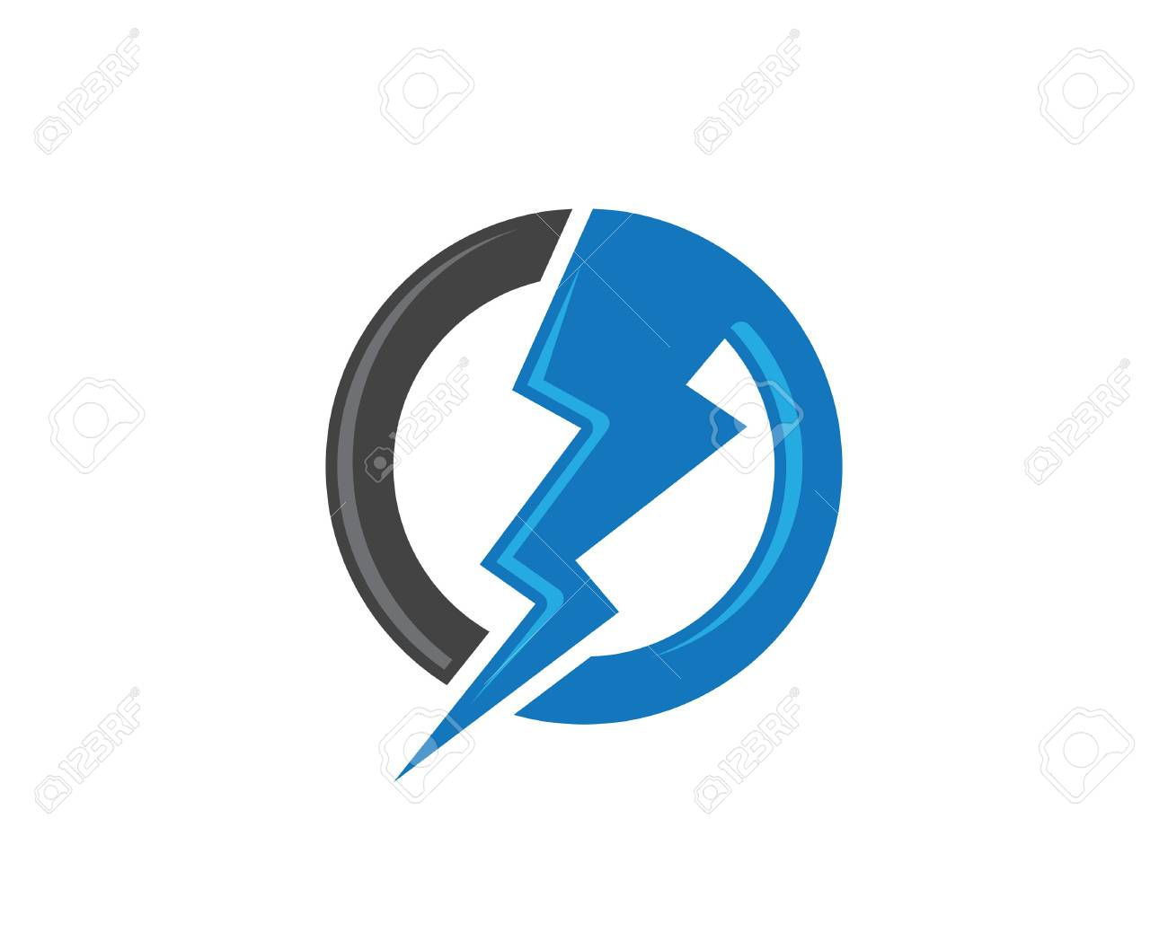 Lightning Logo Template Vector Icon Illustration Design Royalty Free ... for Lightning Logo In Circle  166kxo