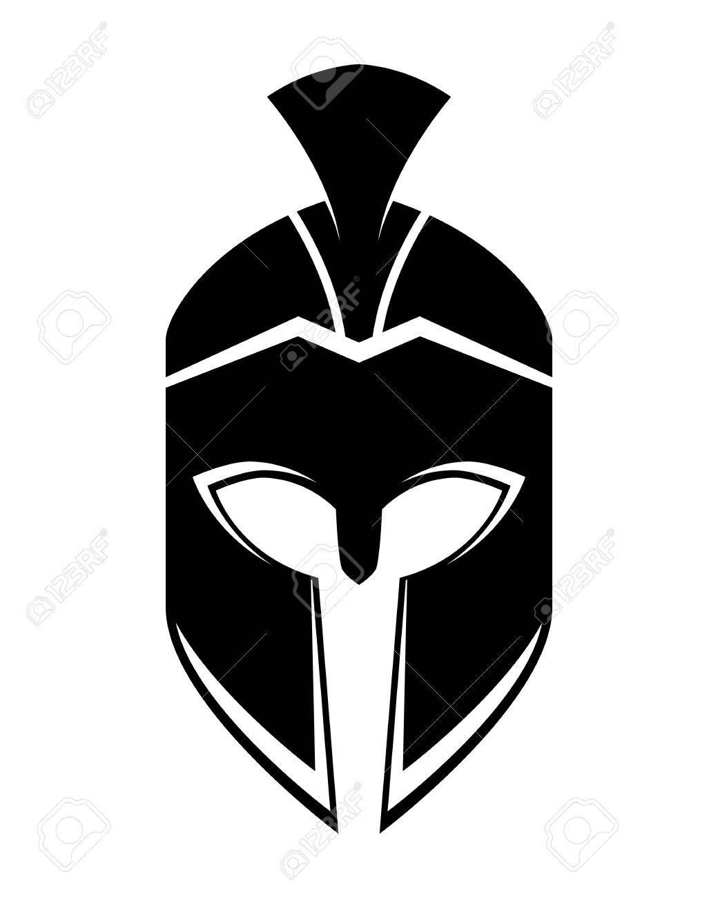 74093c926aad3 Spartan helmet logo template vector illustration Stock Vector - 85801126