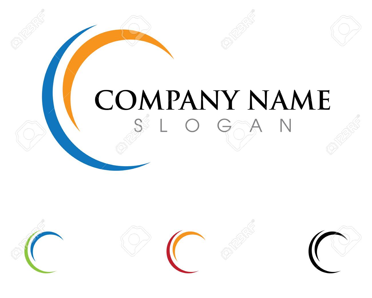 c letter logo template vector icon design royalty free cliparts