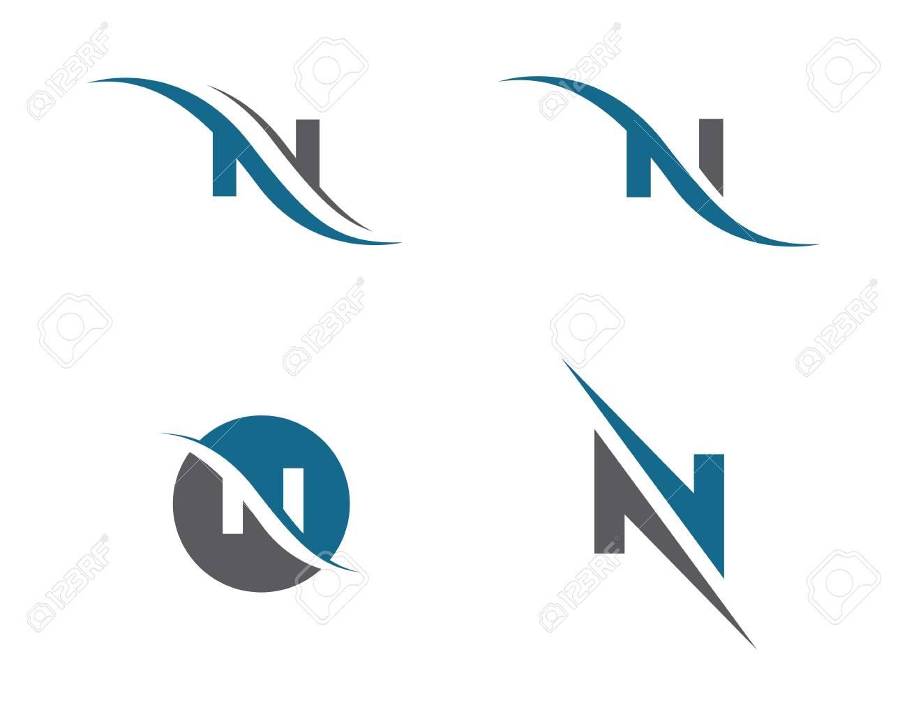 N Letter Logo Template - 82007894