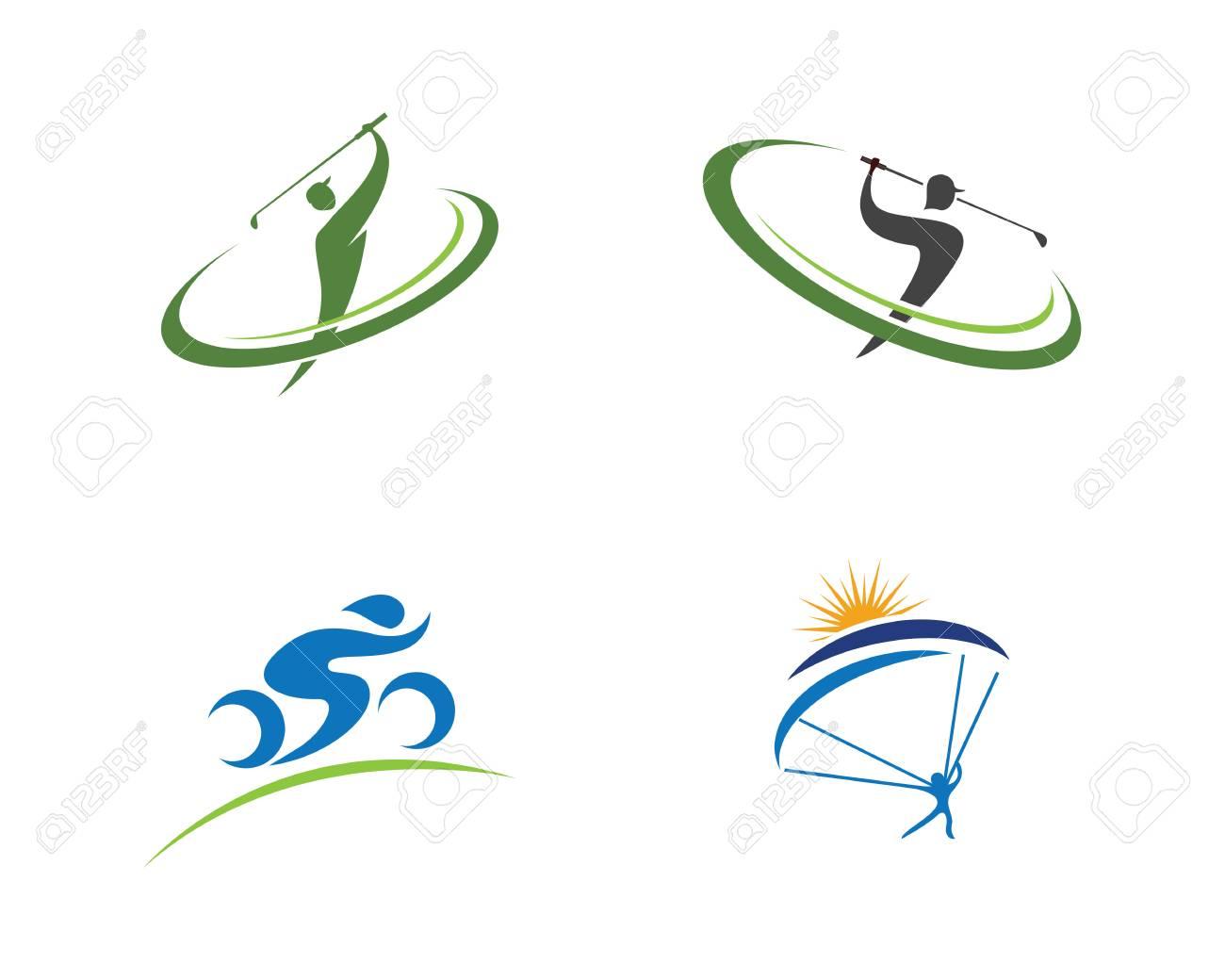 golf logo template vector illustration icon design royalty free rh 123rf com vector golf ball icon vector golf clubs