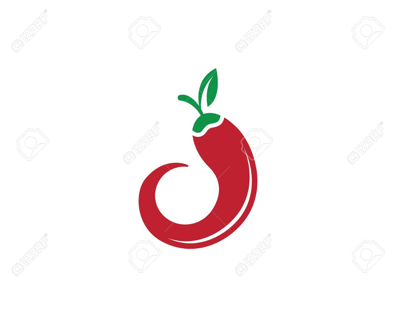 red hot chili logo template isolated in white royalty free cliparts rh 123rf com chili pepper mascot adult chili pepper logo images