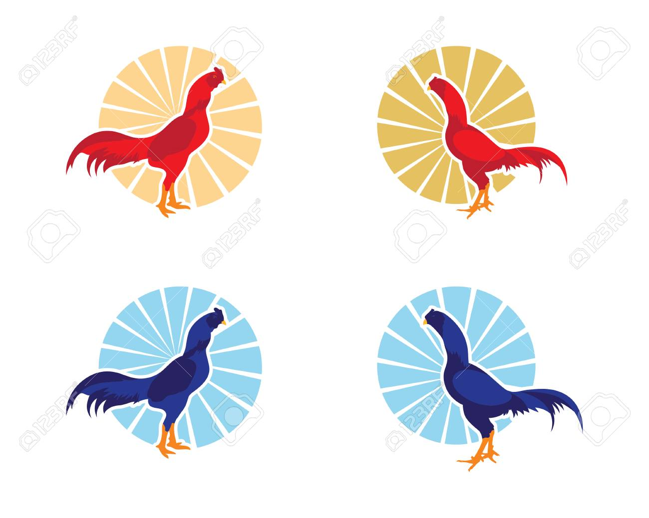 Rooster Logo Template Royalty Free Cliparts, Vectors, And Stock ...
