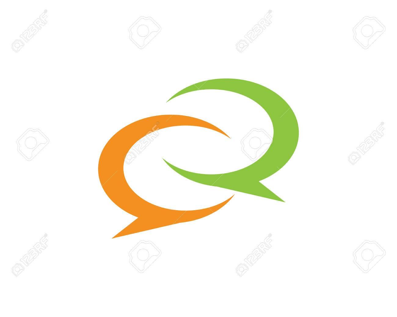 4daabd0c121e42 Speech bubble icon Logo template vector illustration Stock Vector - 85190269