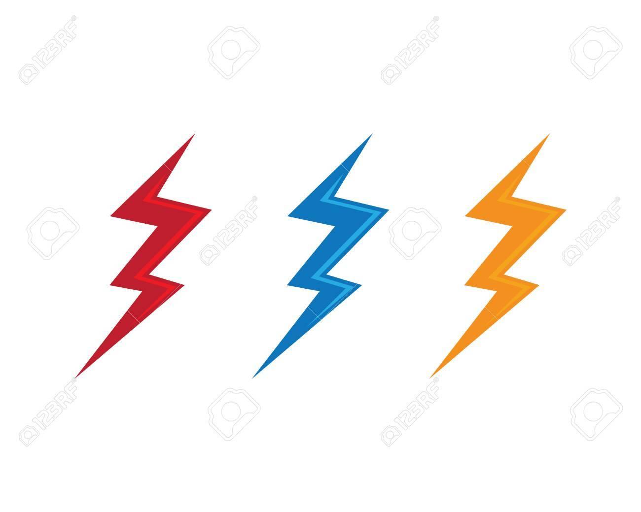 lightning logo template vector icon illustration design royalty free
