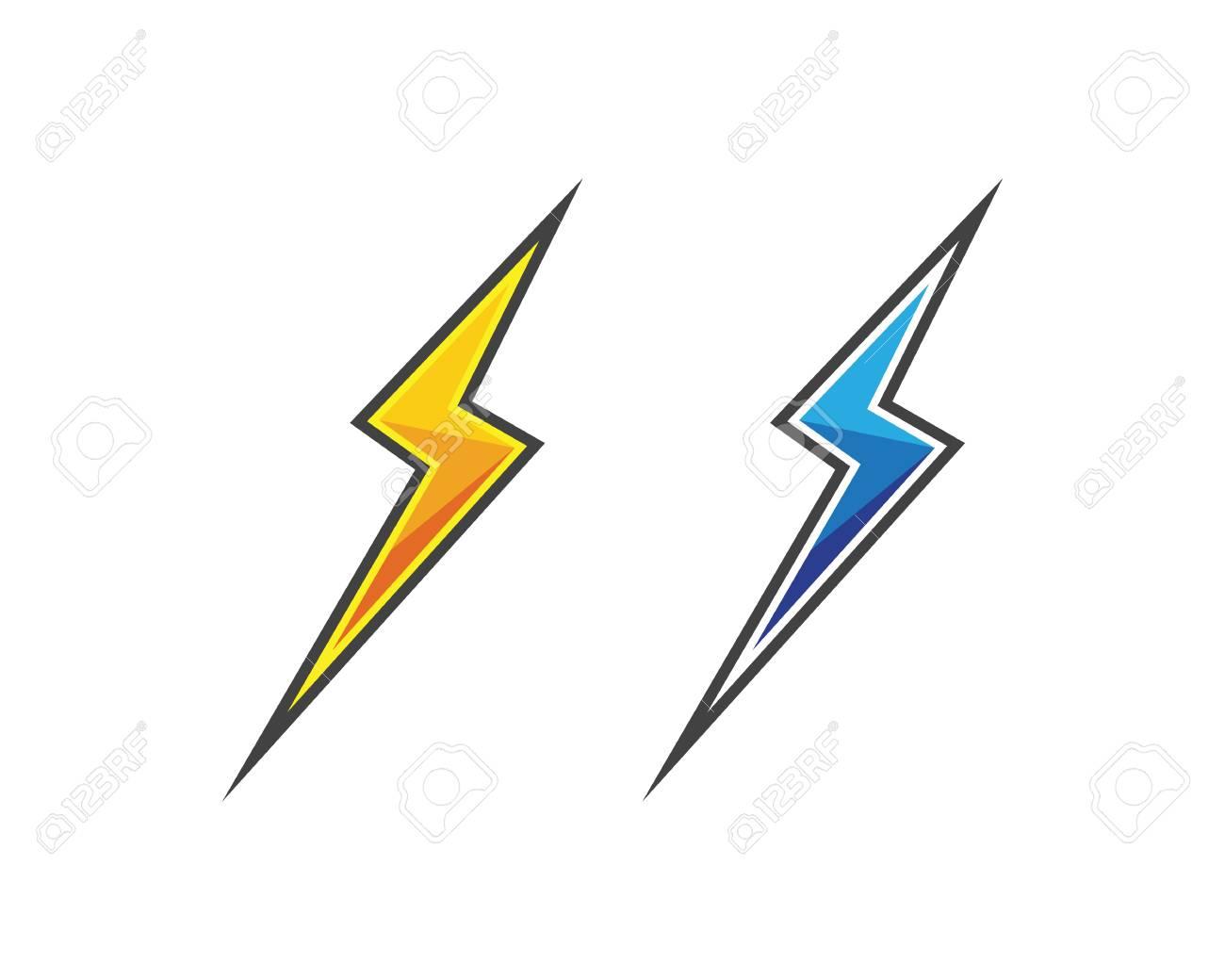 Rayo Logotipo Plantilla Ilustración Vectorial Icono De Diseño ...