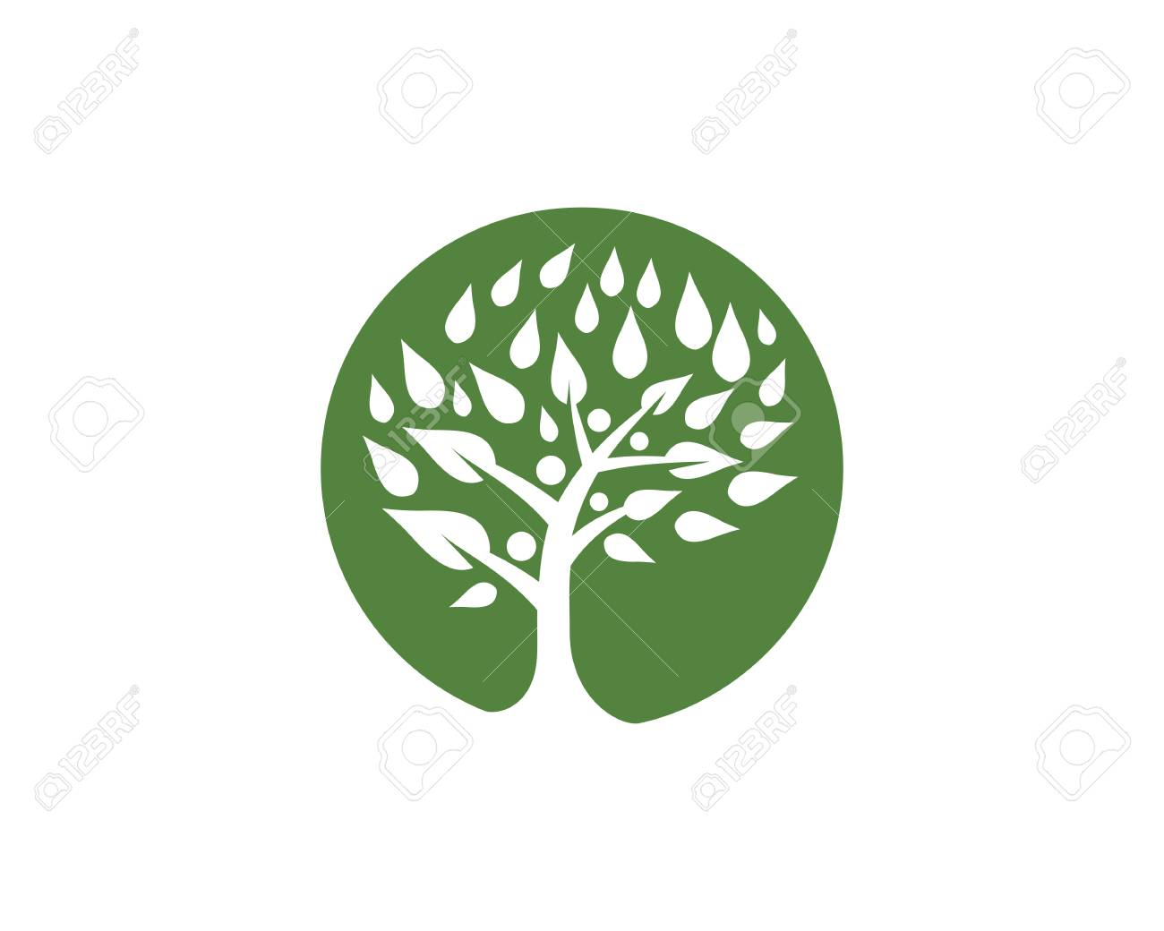 Family Tree Symbol Icon Design Template Royalty Free Cliparts