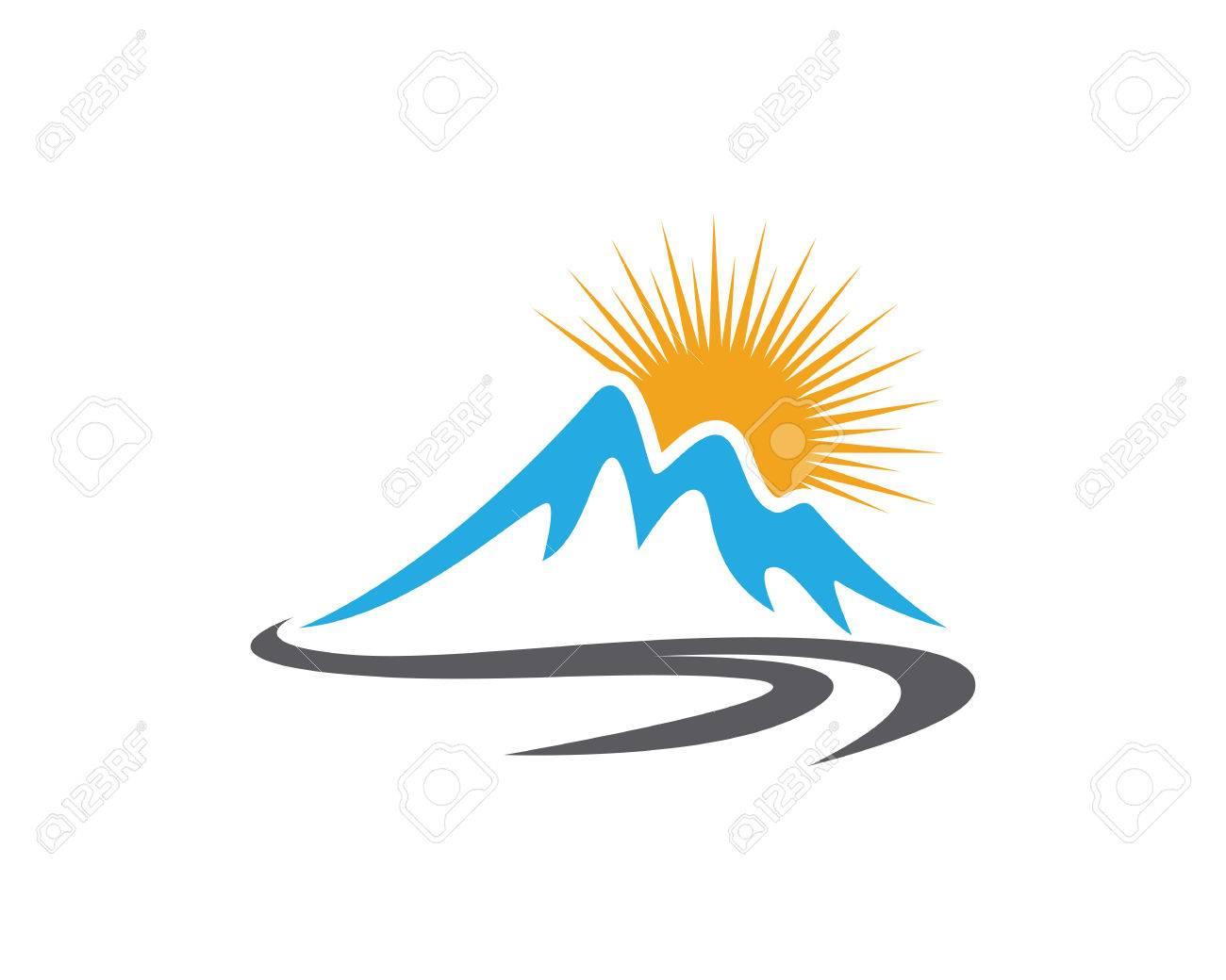 Berg-Symbol Logo Geschäftsvorlage Vektor Lizenzfrei Nutzbare ...