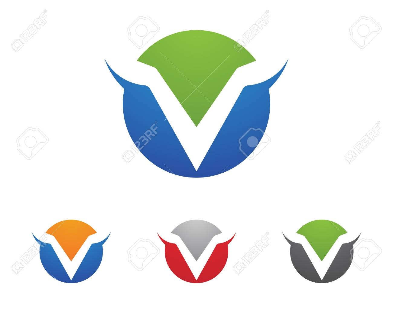V Letter Logo Business Template Vector Icon Design Royalty Free ...