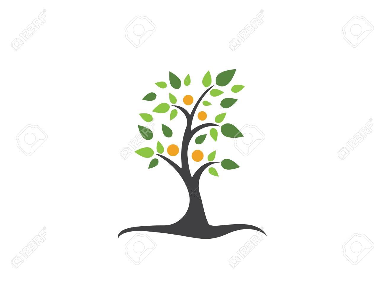 Family tree symbol icon logo design template illustration. - 87749250