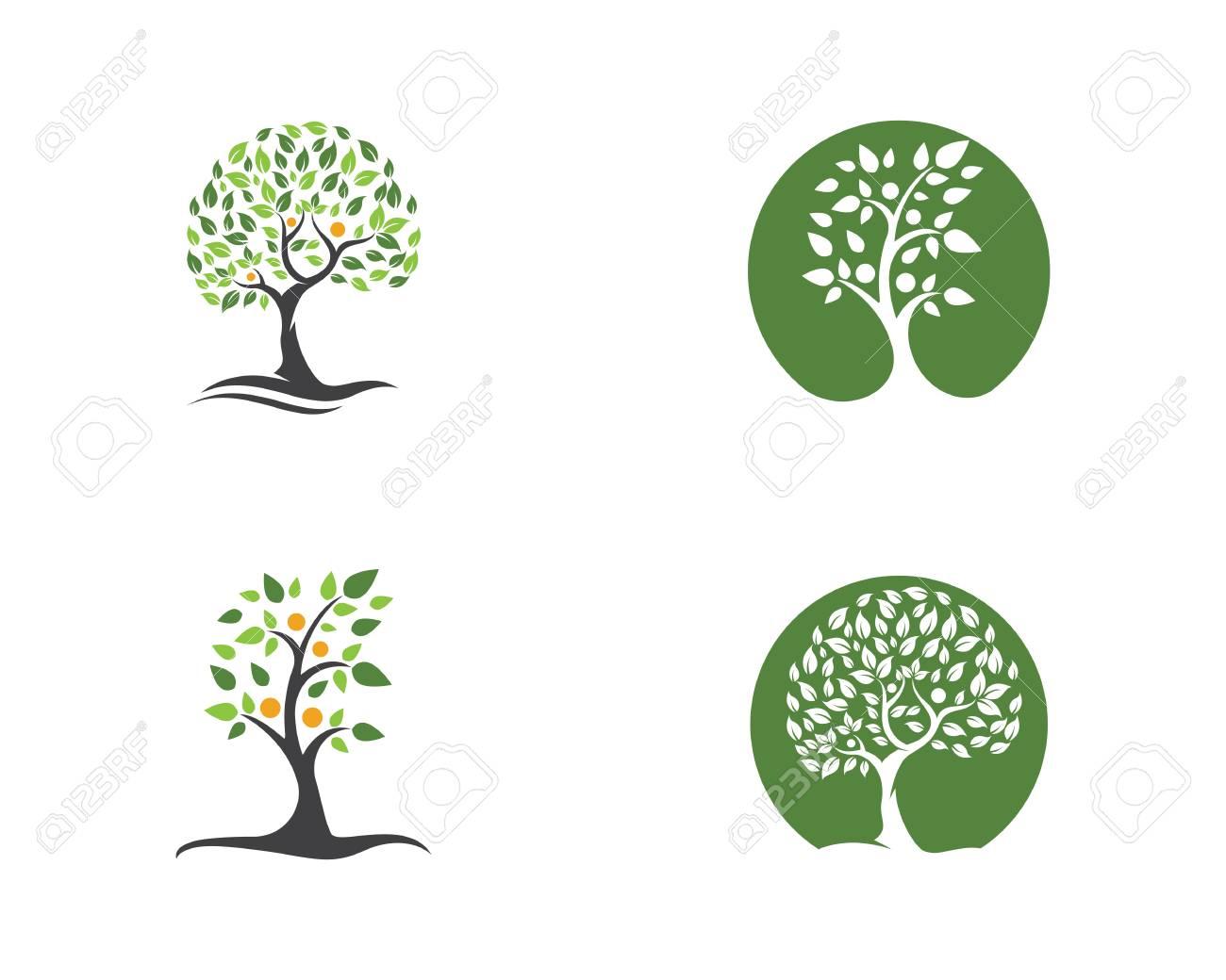 Ilustración De Plantilla De Diseño De Logotipo De Icono De árbol ...