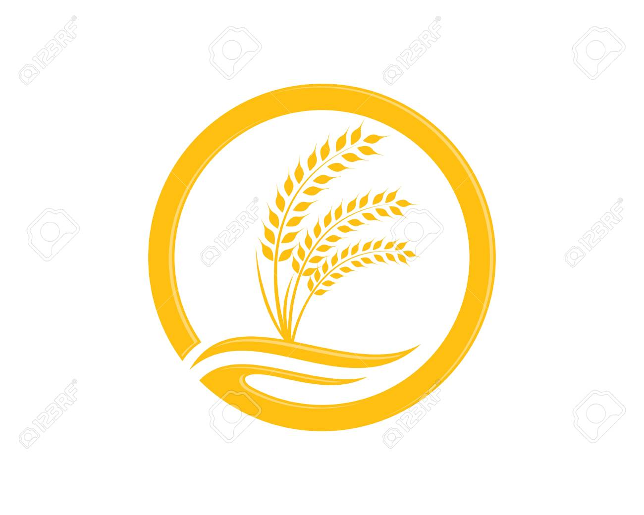 Agriculture wheat Logo Template vector icon design - 88046837