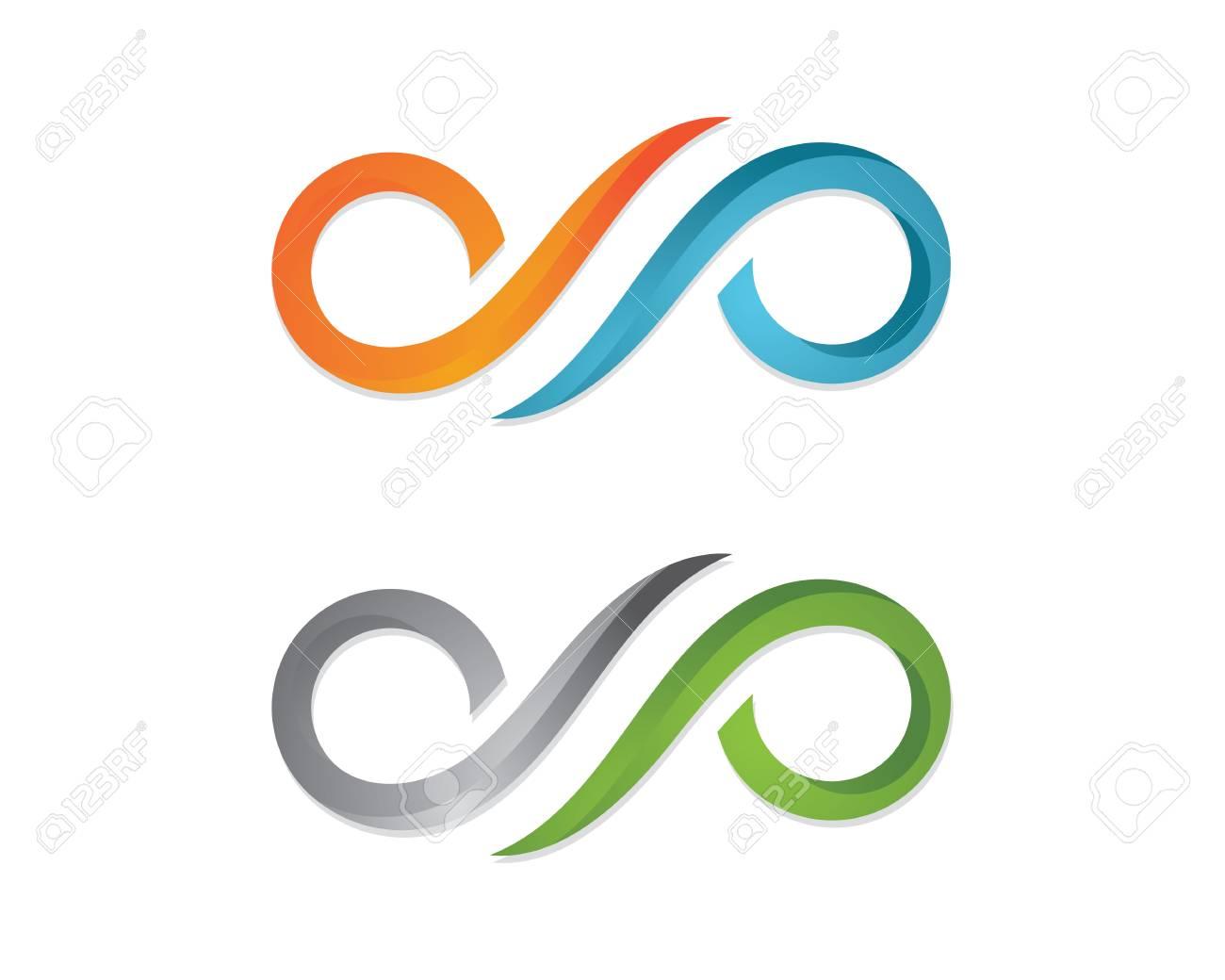 Infinity Design Infinity Logo Vector Logo Template Royalty Free