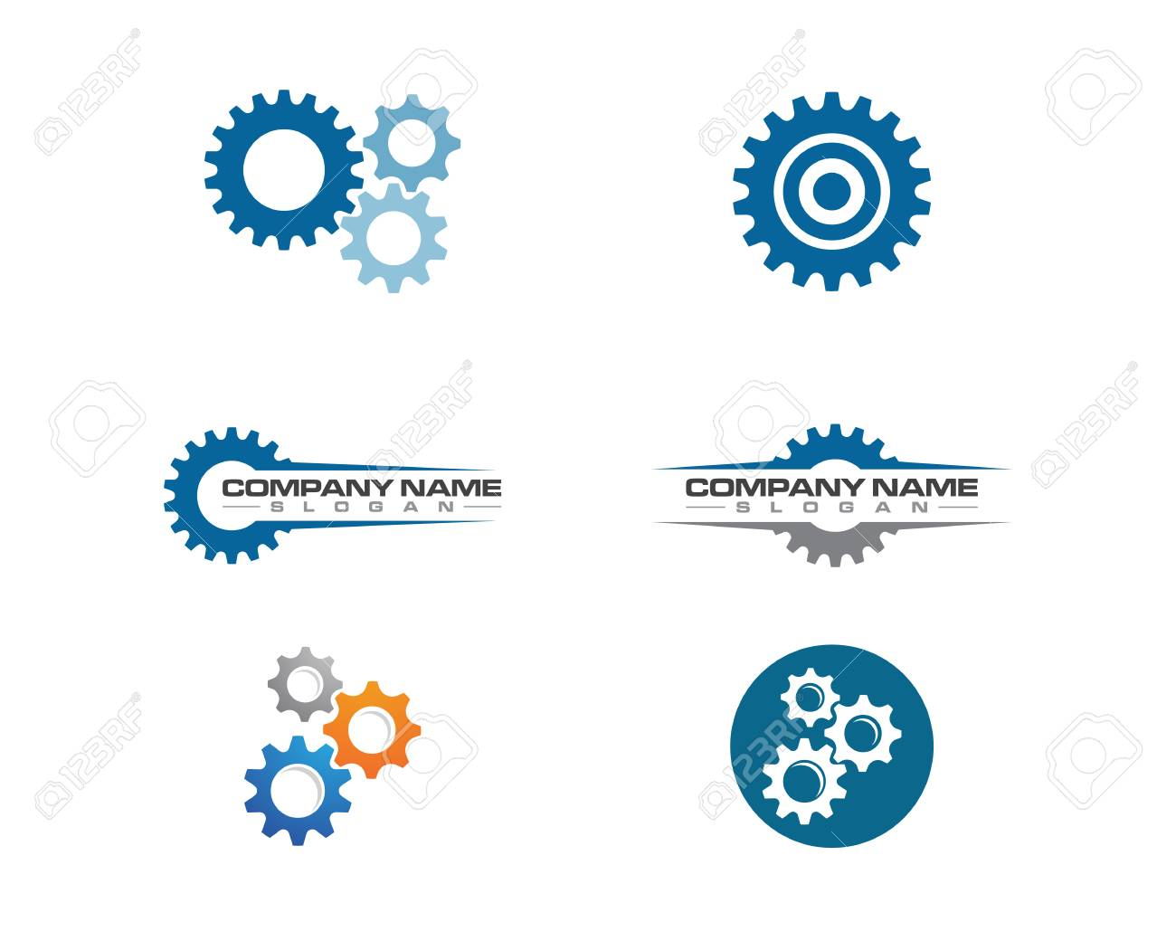 Gear Logo Template vector icon illustration design - 88846736