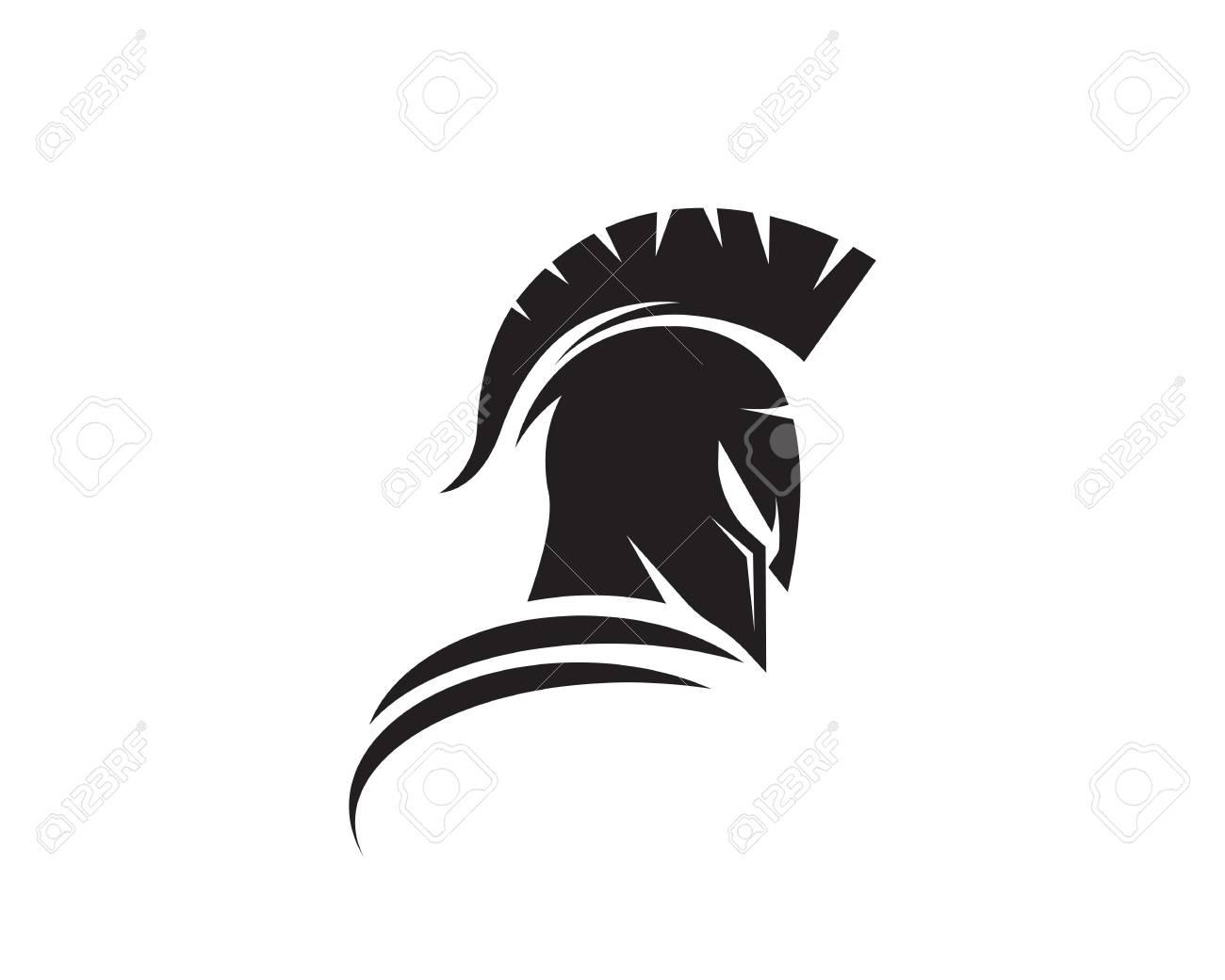 aa3deaba123bc Spartan helmet logo template vector icon design Stock Vector - 89110771