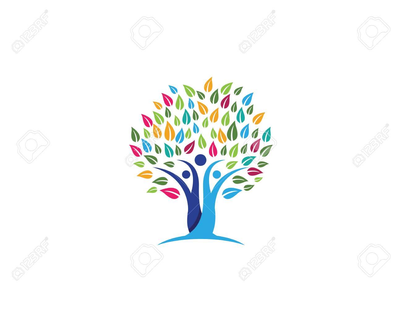 Cono De Símbolo De árbol Familiar Ilustraciones Vectoriales Clip