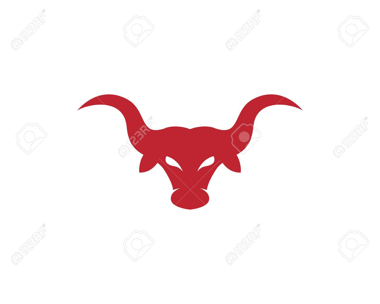 red bull taurus symbol template design royalty free cliparts