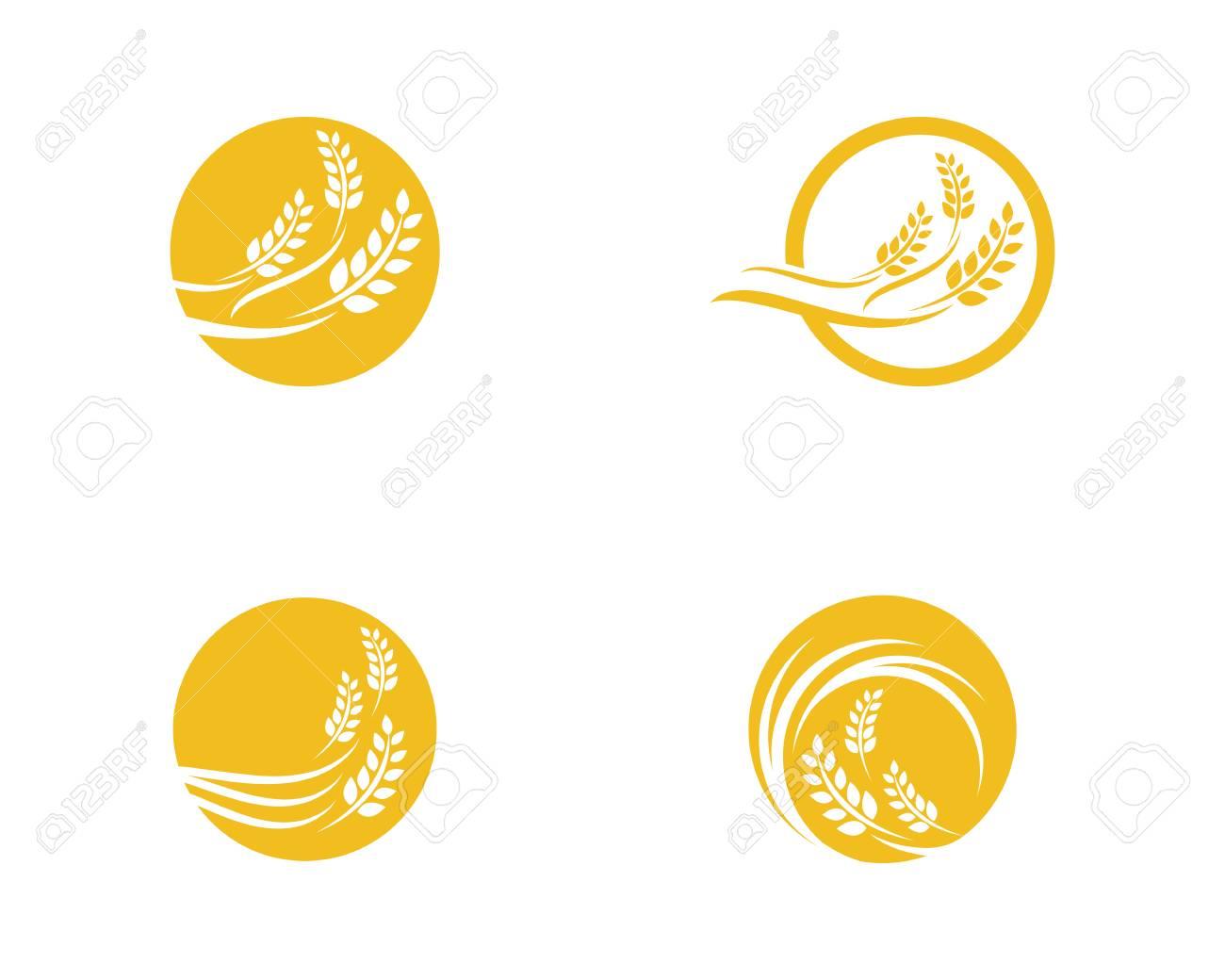 Agricultura Trigo Logo Plantilla, Diseño De Icono De Vector ...