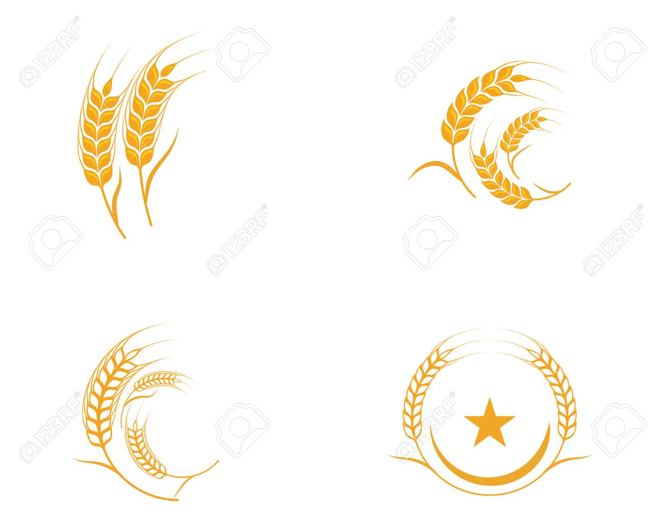 Agriculture wheat Template vector icon design illustration - 94984022