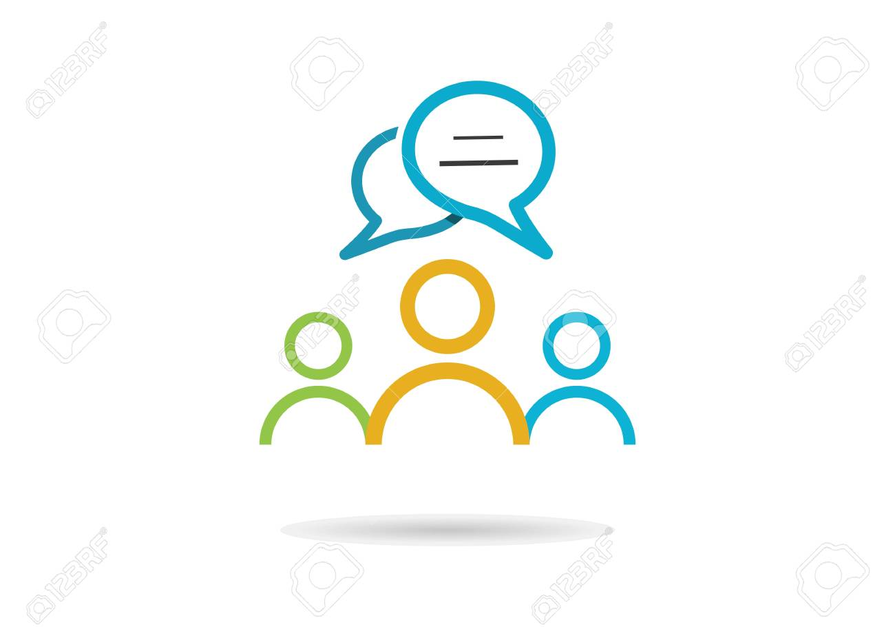 community people with speech bubble vector template - 95381254