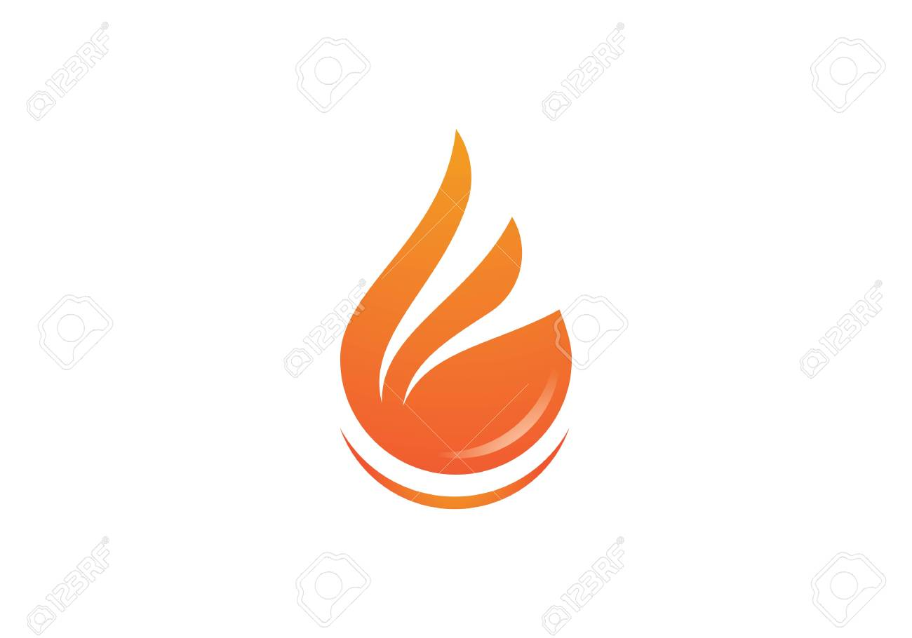 fire flame template vector icon oil gas and energy concept royalty