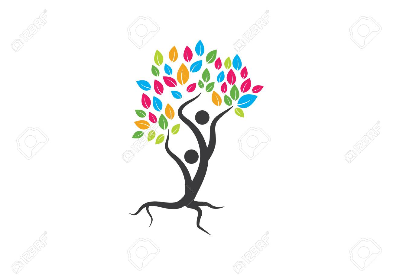 Family Tree Symbol Icon Logo Design Template Royalty Free Cliparts
