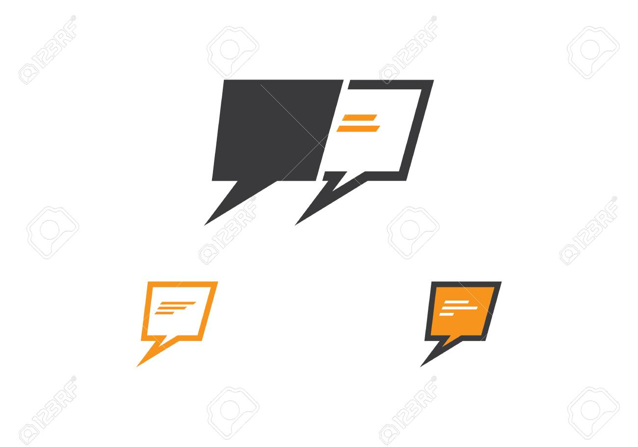 74f238c0df3a48 Speech bubble icon Logo template vector illustration Stock Vector - 97873726