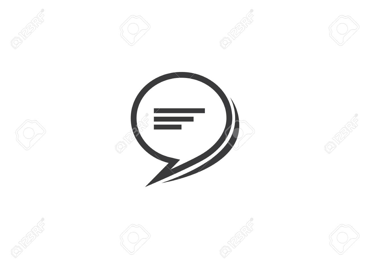 34e4b7ec5e4d4d Speech bubble icon Logo template vector illustration Stock Vector - 97874001