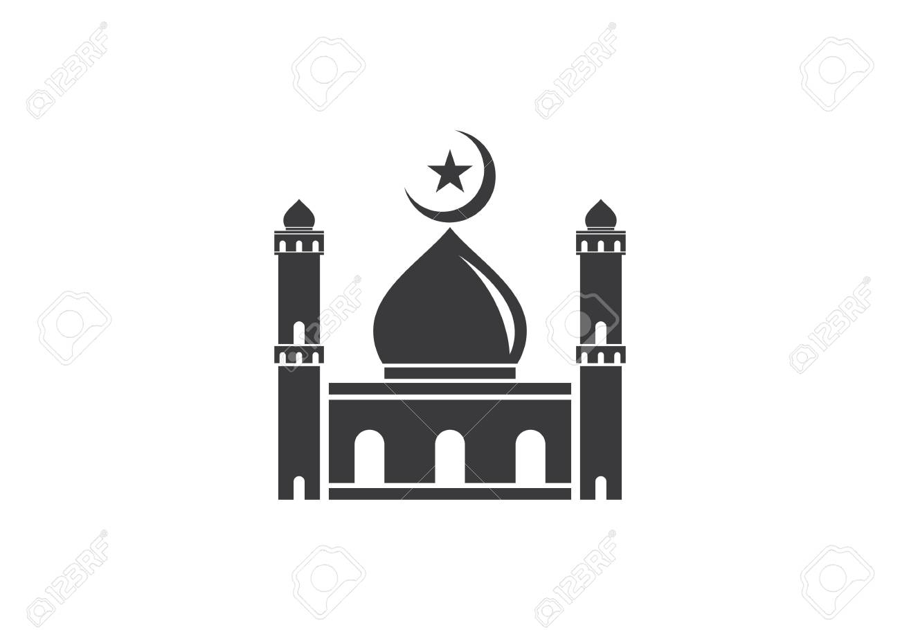 Islamic Mosque Logo Vector Icon Template Royalty Free Cliparts
