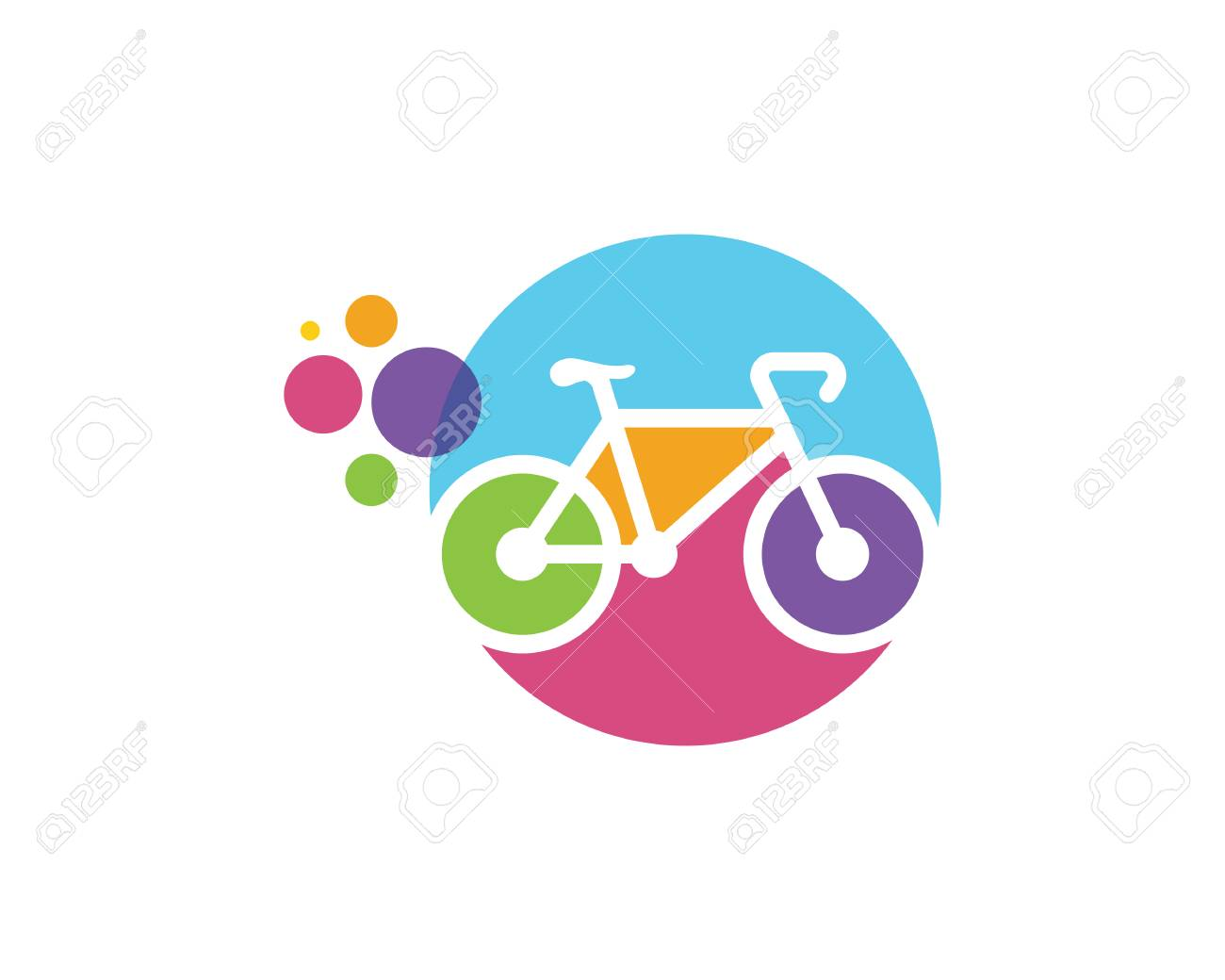 Speedy bike logo design template royalty free vector image.