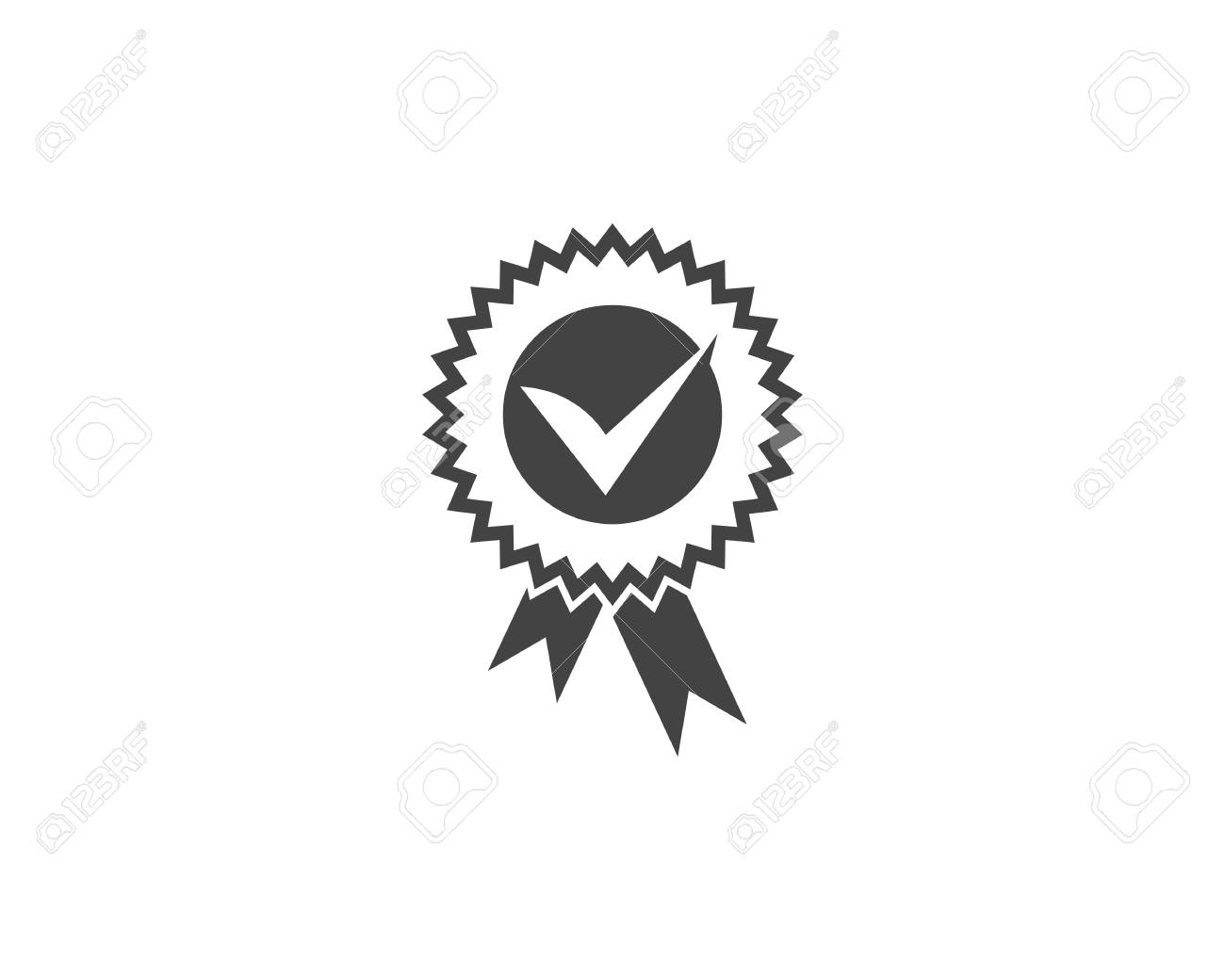 Approved or Certified Medal Icon illustration design - 100266334