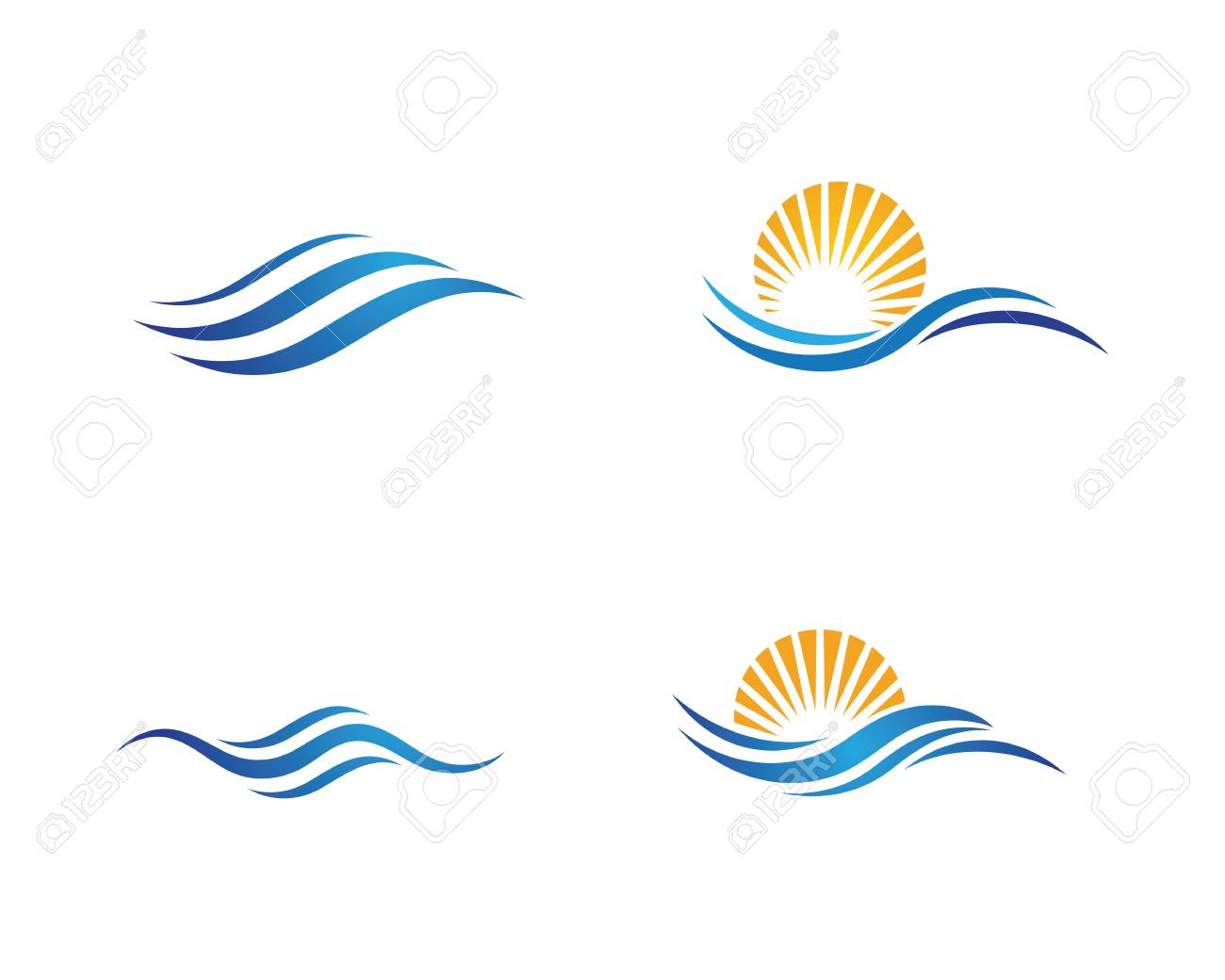 Water wave icon vector illustration design logo template - 101256324