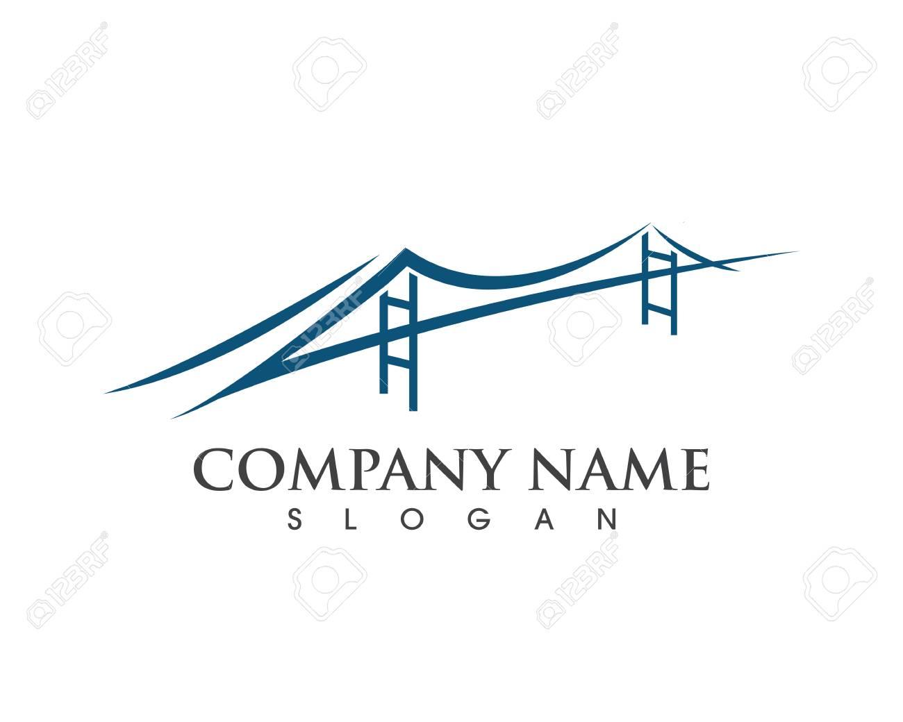 Bridge Logo Template vector icon illustration design - 106481643