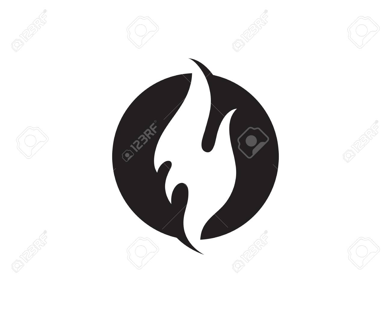 fire flame vector illustration design template royalty free cliparts