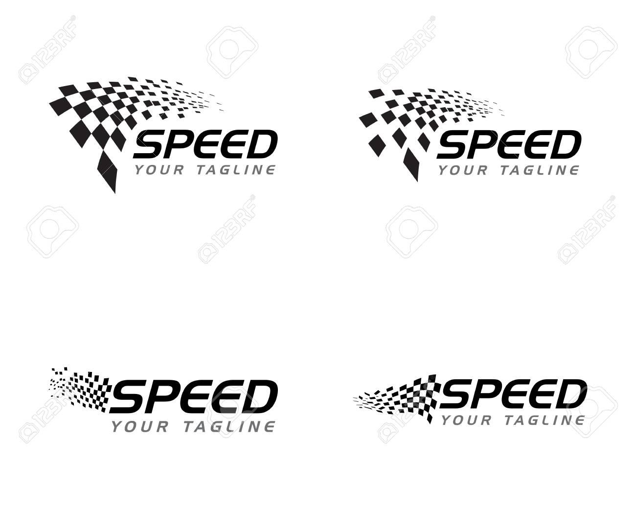 Race flag icon, simple design illustration vector - 115883353