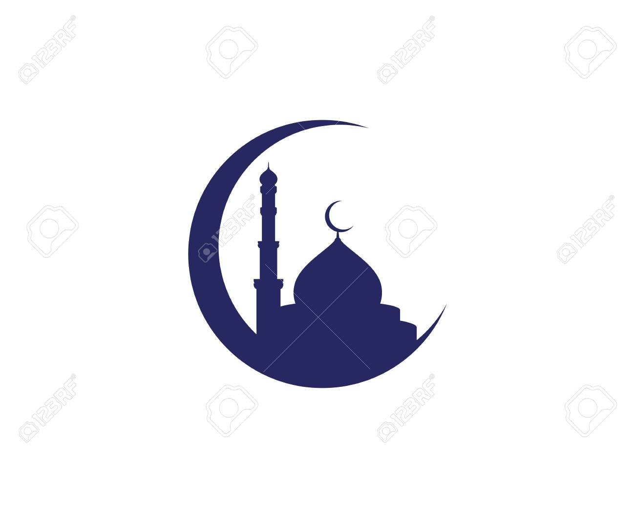 Mosque Moslem icon vector Illustration design template - 119660814