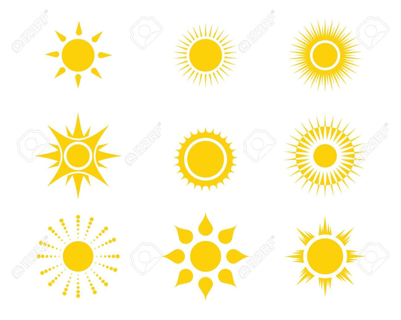 Sun Vector illustration Icon Template design - 126546504