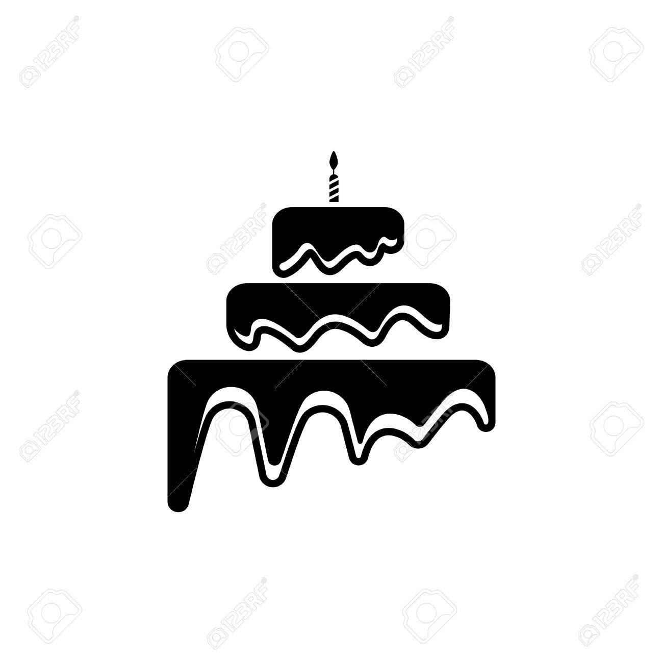 Cake sign icon vector illustration design template - 129462303