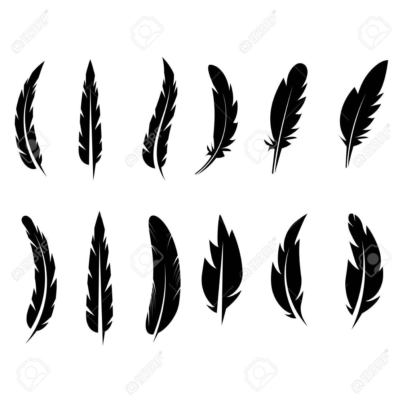 feather icon Vector Illustration design Logo template - 130788076